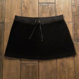 Juicy Couture black velour mini skirt size P = XS